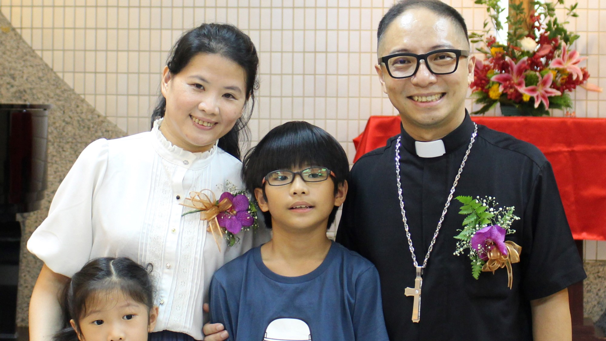 Pastor Cheng Fa Hsiang med familie